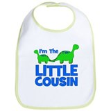 I'm The LITTLE Cousin! Dinosa Bib