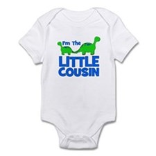 I'm The LITTLE Cousin! Dinosa Infant Bodysuit