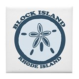 Block Island RI - Sand Dollar Design Tile Coaster