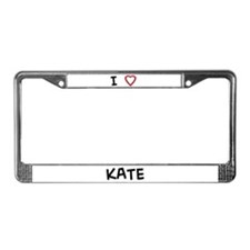 I Love KATE License Plate Frame