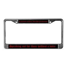 Domestic Violence License Plate Frame