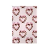 Floral Heart Rectangle Magnet
