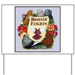 Domestic Flight Flowers Yard Sign