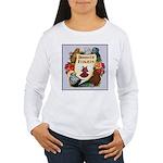 Domestic Flight Flowers Women's Long Sleeve T-Shir