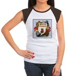 Domestic Flight Flowers Women's Cap Sleeve T-Shirt