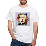 Domestic Flight Flowers White T-Shirt