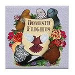 Domestic Flight Flowers Tile Coaster