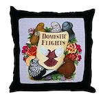 Domestic Flight Flowers Throw Pillow