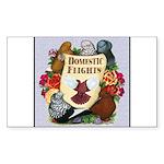 Domestic Flight Flowers Sticker (Rectangle)