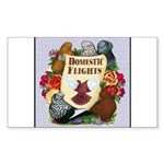 Domestic Flight Flowers Sticker (Rectangle 10 pk)