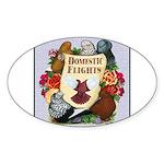 Domestic Flight Flowers Sticker (Oval 10 pk)