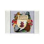Domestic Flight Flowers Rectangle Magnet (100 pack