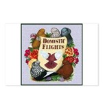 Domestic Flight Flowers Postcards (Package of 8)