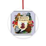 Domestic Flight Flowers Ornament (Round)