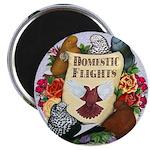 Domestic Flight Flowers Magnet