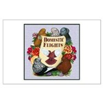Domestic Flight Flowers Large Poster