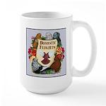 Domestic Flight Flowers Large Mug