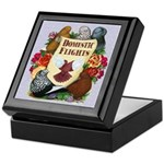 Domestic Flight Flowers Keepsake Box