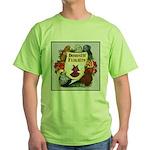 Domestic Flight Flowers Green T-Shirt