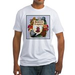 Domestic Flight Flowers Fitted T-Shirt