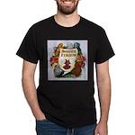 Domestic Flight Flowers Dark T-Shirt