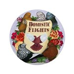 """Domestic Flight Flowers 3.5"""" Button (100 pack"""