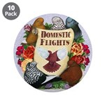 """Domestic Flight Flowers 3.5"""" Button (10 pack)"""
