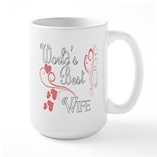 Best Wife (Pink Hearts) Mug