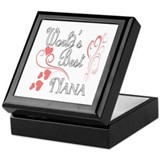 Best Nana (Pink Hearts) Keepsake Box