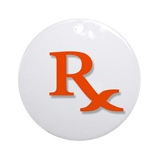Pharmacy Rx Symbol Ornament (Round)