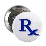 "Pharmacy Rx Symbol 2.25"" Button (10 pack)"