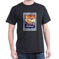 Retro Hawaiian Air Black T-Shirt