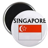 "Cute Flag of singapore 2.25"" Magnet (100 pack)"