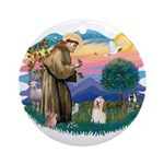 St Francis #2/ Havanese #1 Ornament (Round)