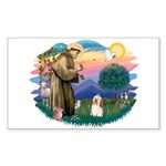 St Francis #2/ Havanese #1 Sticker (Rectangle)