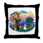 St Francis #2/ Havanese #1 Throw Pillow