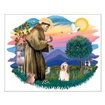 St Francis #2/ Havanese #1 Small Poster
