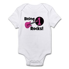 Being 1 Rocks! Guitar Infant Bodysuit