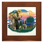 St Francis #2/ Spinone Framed Tile