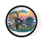 St Francis #2/ Spinone Wall Clock