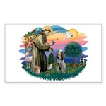 St Francis #2/ Spinone Sticker (Rectangle 10 pk)