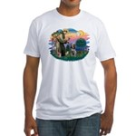 St Francis #2/ Spinone Fitted T-Shirt