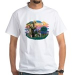 St Francis #2/ Spinone White T-Shirt