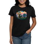 St Francis #2/ Spinone Women's Dark T-Shirt