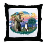 St Francis #2/ Aus Shep (tri) Throw Pillow