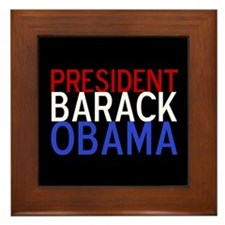President Obama Framed Tile