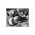 Giant Homer Pigeons Mini Poster Print