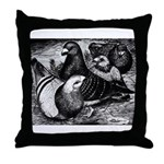Giant Homer Pigeons Throw Pillow