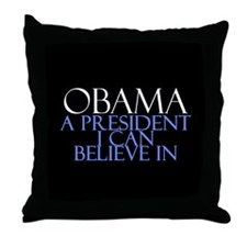 Believe in Obama Throw Pillow