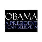 Believe in Obama Rectangle Magnet